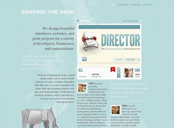 30个漂亮的蓝色风格网页设计作品欣赏_网页设计图片