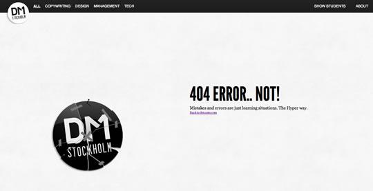 40个非常有创意的404页面设计作品_网页设计