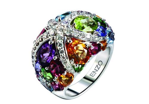彩色珠宝点燃新娘夏日激情