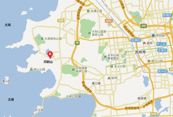 香雪海位于苏州邓尉山光福古镇,距苏州城西南30公里处