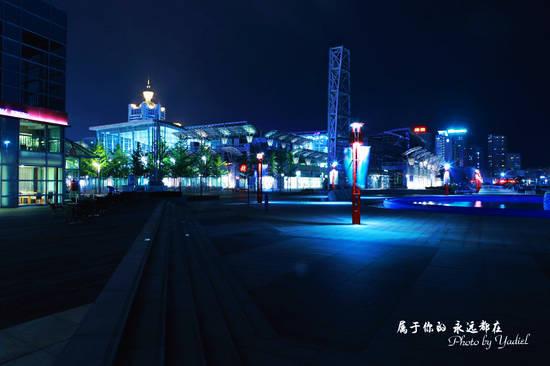 魅力青岛:灯火阑珊的五四广场与奥帆基地