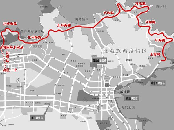 威海市旅游景点地图
