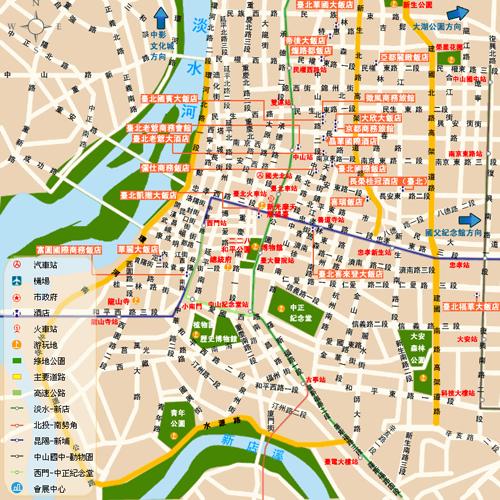 台北旅游地图 台北捷运地图