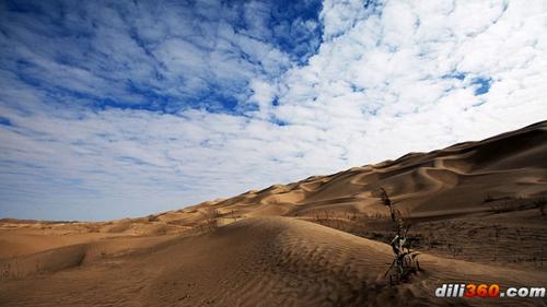 国新疆的塔里木盆地