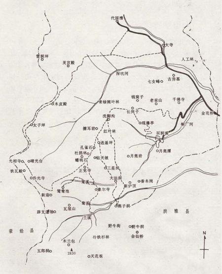 瓦屋山地图