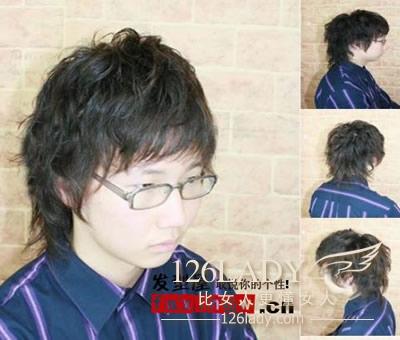 戴眼镜的男生适合什么样的发型