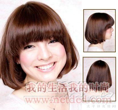 """在日本这种发型叫做""""娃娃头"""",适合可爱娃娃脸的女生亦或者脸型小的"""