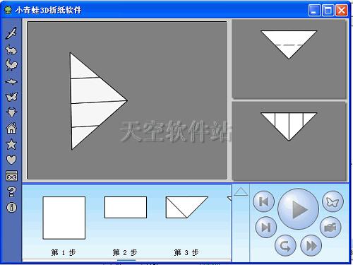 点击向下的箭头 按钮可以隐藏或显示折法列表.