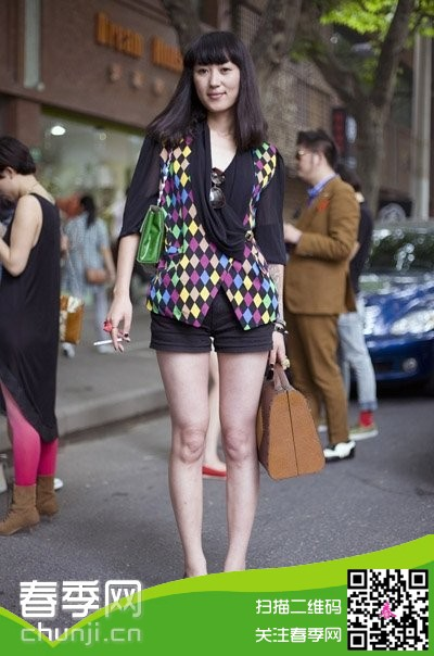 2014初夏上海街拍美女搭配