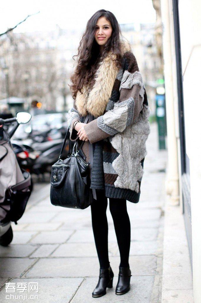 秋冬街拍:学潮人搭配冬季大衣