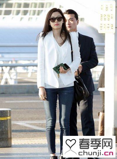 夏天韩国女星的时髦大气搭配街拍