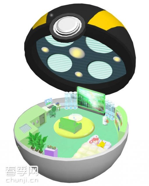 动画片《神奇宝贝》里的精灵球:内部探秘