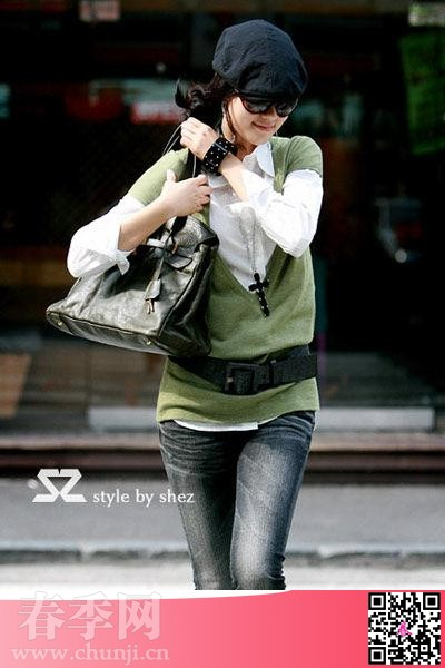 韩国今年春天街头流行穿衣搭配