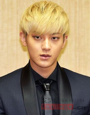 韩式男生发型设计 帅气斜庞克掀起时尚风图片