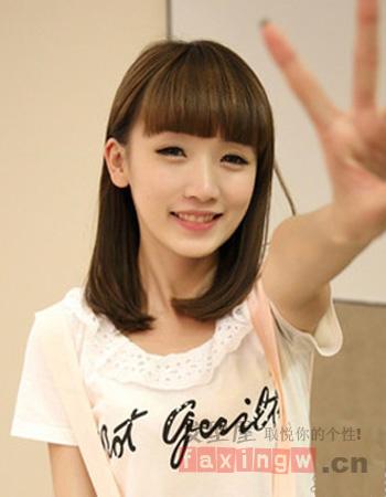齐刘海发型图片 减龄从头开始图片