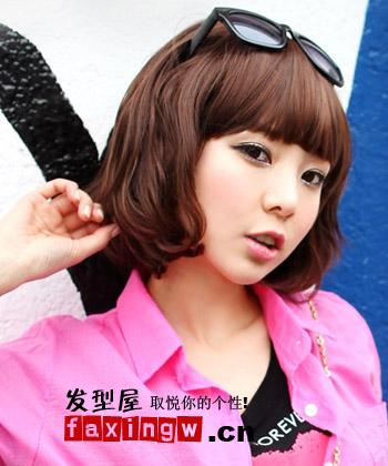2013流行短发蛋卷头发型 时尚减龄可爱女生必备