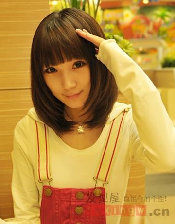 超甜韩国女生短发发型