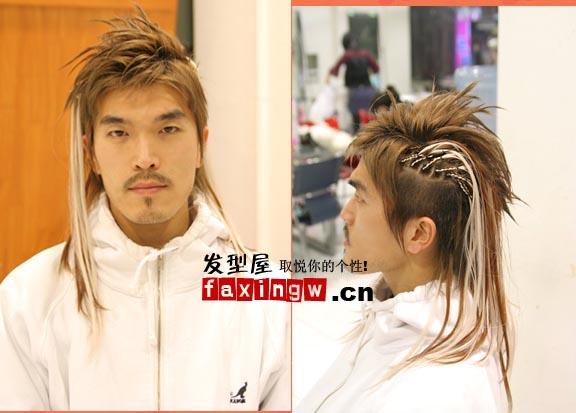 时尚个性男生接发发型全过程