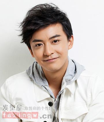 14款男生斜刘海发型图片 圆脸帅哥潮流首选