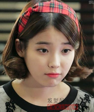 韩国国民妹妹iu李智恩短发精选 甜美俏皮惹人爱图片