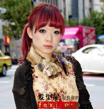 新年红发当头 靓丽红色染发颜色带好运图片