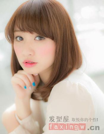 女生刘海发型设计图片 打造修颜美造型图片