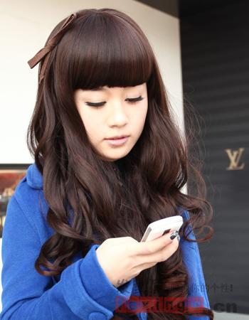 女生齐刘海发型图片 清纯甜美萌妹必备