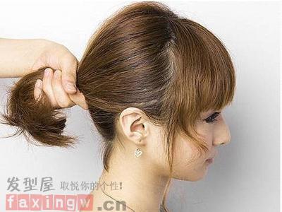 短发怎么扎简单好看 侧边盘发发型图解