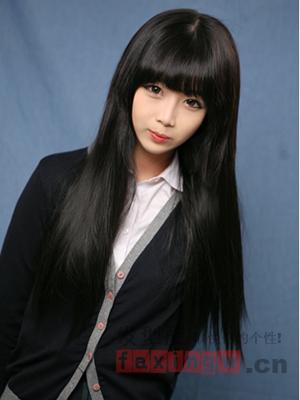 发际低适合的发型 齐刘海发型图片图片