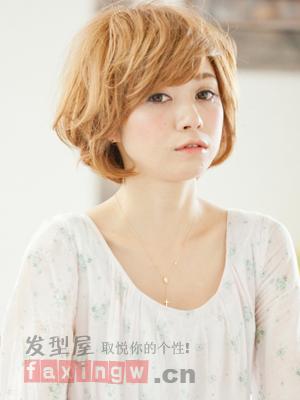 圆脸适合什么短发 时尚圆脸短发发型图片图片