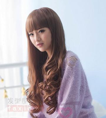 2014韩国女生长卷发发型推荐 修颜瘦脸最受欢迎