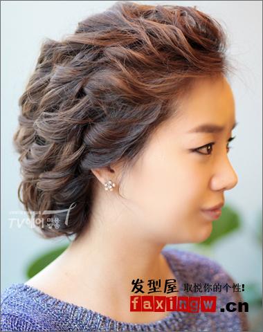 2013最新韩式盘发发型图片 打造温婉小女人图片