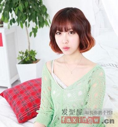 2013最新韩式短发烫发发型 时尚打造专属你的小个性