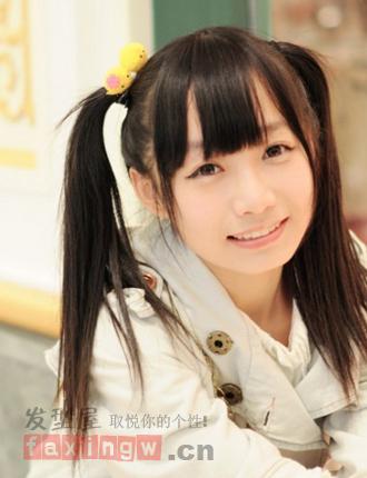 10款齐刘海双马尾 清纯甜美学生mm最爱图片