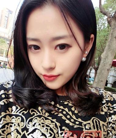 女生清新无刘海发型 干净气质最显清纯图片