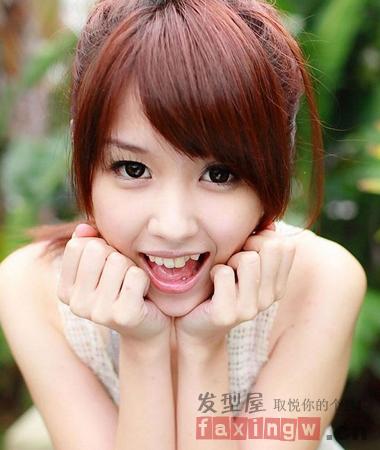 直刘海怎么变斜刘海 甜美刘海清新瘦脸图片