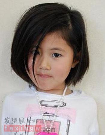 儿童短发发型图片 呆萌可爱惹人喜爱