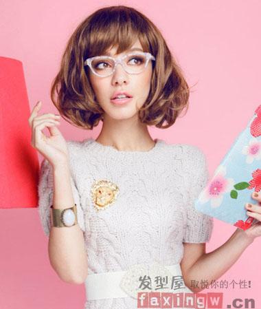 韩式瘦脸短发发型 短发女生也能充满女人味