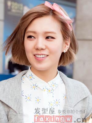 韩式蓬松感短发烫发 甜美发型魔力瘦脸