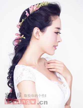 韩式新娘编发发型图片 打造全新清纯魅力