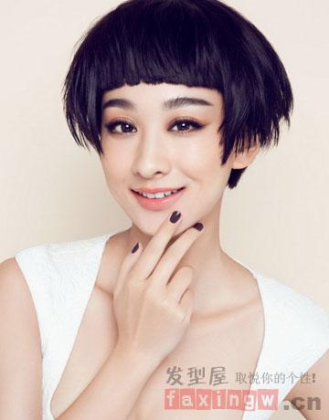 2014时尚女星短发发型图片 帅气知性轻熟范图片