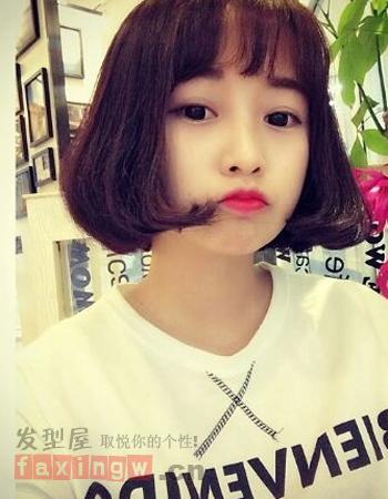 韩式时尚烫小a时尚烫发齐肩平添老师六一v时尚发型发型图片