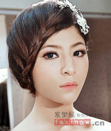 2013韩式新娘拍照发型 惊艳你的绝美婚纱照造型图片