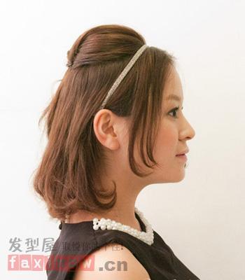 优雅中短发发型扎发 6步轻松搞定