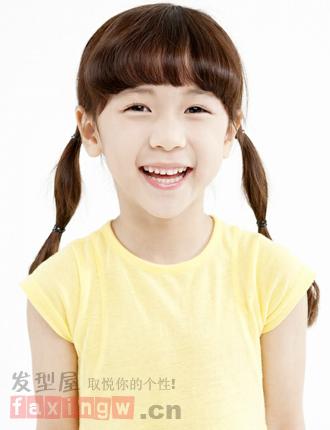 韩国童星李甄可爱发型图片