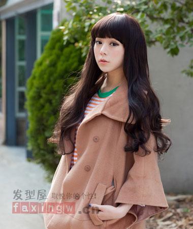 韩国中长发烫发发型图片 夏日小清新系甜美来袭图片