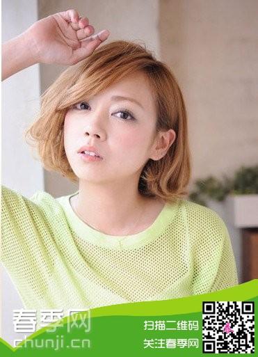2014女生斜刘海发型图片推荐图片