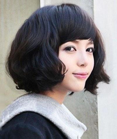 韩式中短发发型图片
