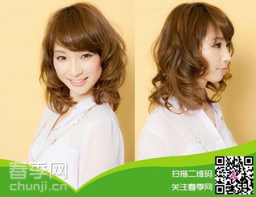 中长发烫发发型图片 2014大热的发型图片