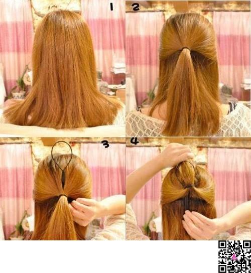 四款简单韩式发型扎法步骤